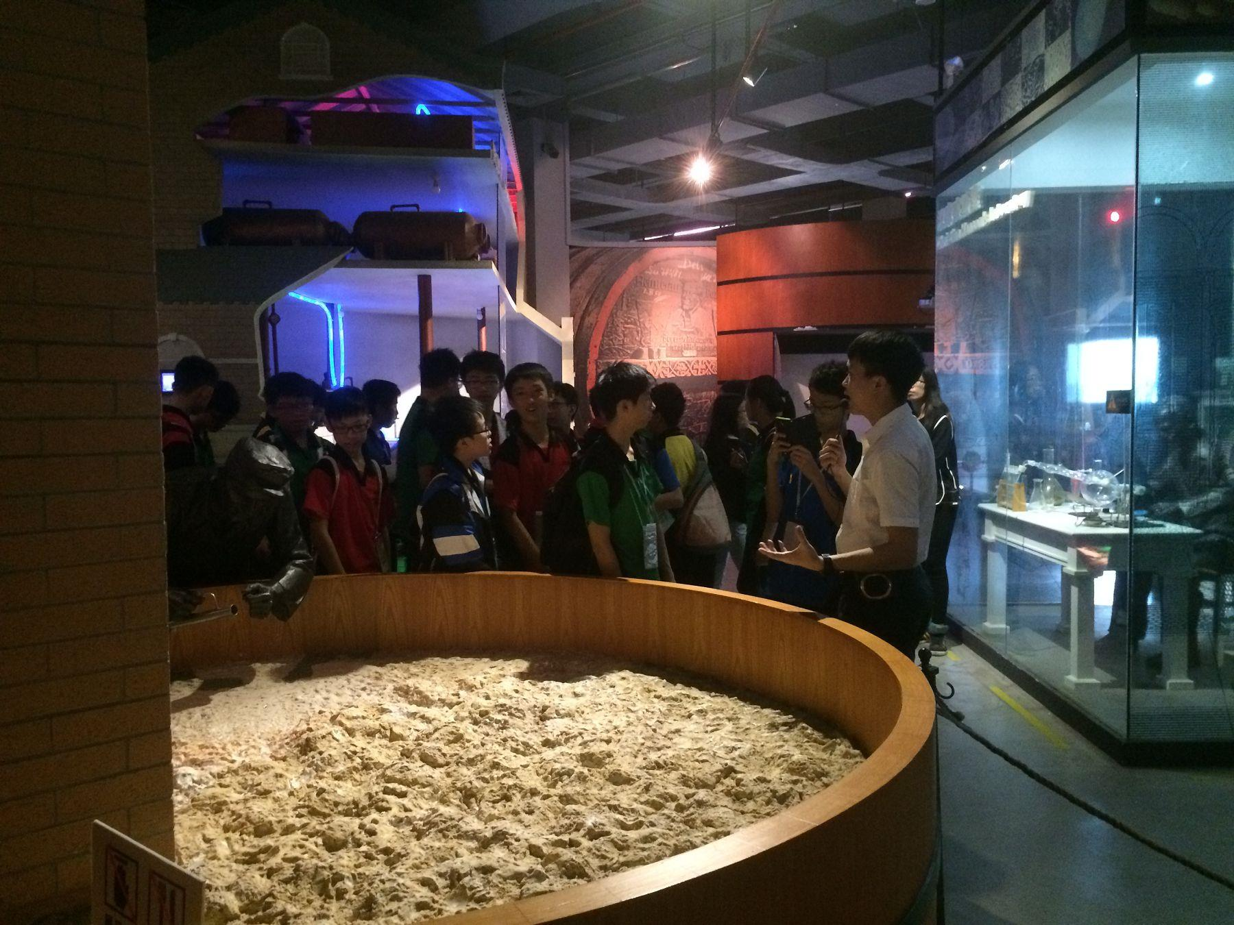 Students learnt brewery production processes as well as its management and operations.