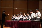 The Hong Kong students were performing in a sharing of musical skills session at Central Conservatory of Music Middle School