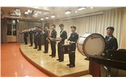 The Marching Band from Hong Kong school was performing in a sharing of musical skills session at China Conservatory.