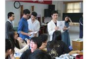 Hong Kong students attended a class with local students and the teacher also gave questions to them to answer.