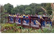 Students visited the wetland park and understood the diversity and resources of the wetland ecosystem.