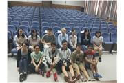 Students were taking photo with Professor Peng