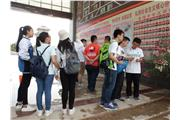 Students were interacting with students from the Dunhuang Secondary School