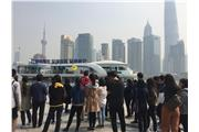 Students were visiting The Bund of Shanghai