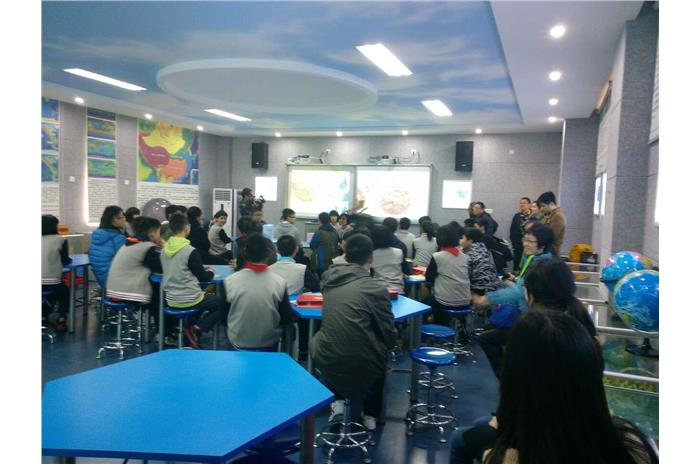 Hong Kong students were attending lessons with mainland students.